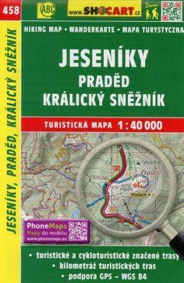 Wanderkarte Tschechien Jeseniky, Praded, Kralicky Sneznik 1 : 40 000