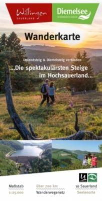 Wanderkarte Uplandsteig & Diemelsteig verbinden -  pdf epub