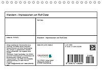Wandern - Impressionen von Rolf Dietz (Tischkalender 2019 DIN A5 quer) - Produktdetailbild 13