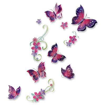 Wandsticker Papillon, 11-teilig
