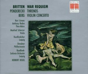 War Requiem/Threnos/Viol.Konz., T. Adam, H. Scherzer, H. Kegel