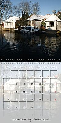 WARE on the River Lea (Wall Calendar 2019 300 × 300 mm Square) - Produktdetailbild 1