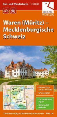 Waren (Müritz) – Mecklenburgische Schweiz 1 : 50 000 Rad-/Wanderkarte, Christian Kuhlmann, Thomas Wachter, Klaus Klemmer