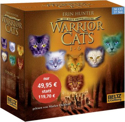 Warrior Cats - Die neue Prophezeiung - Gesamtbox, 30 Audio-CDs, Erin Hunter