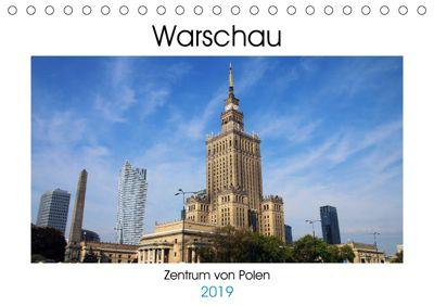 Warschau - Zentrum von Polen (Tischkalender 2019 DIN A5 quer), Helene Seidl