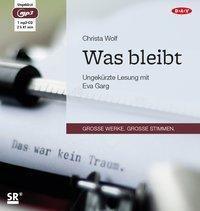 Was bleibt, 1 MP3-CD, Christa Wolf
