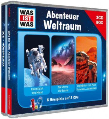 Was ist was Hörspielbox: Abenteuer Weltraum (3 CDs), Manfred Baur