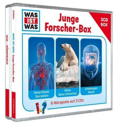 Was ist was Hörspielbox: Junge Forscher-Box, 3 Audio-CDs, Manfred Baur, Kurt Haderer, Matthias Falk