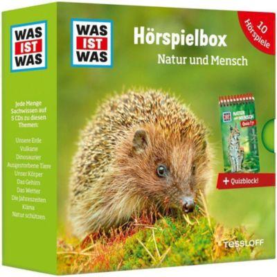 WAS IST WAS Hörspielbox Natur und Mensch, 5 Audio-CDs u. Quizblock, Was Ist Was