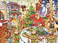 Wasgij Christmas 12 - Truthahn im Glück - 1000 Teile Puzzle - Produktdetailbild 1