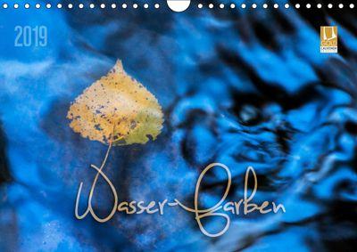 Wasser-Farben (Wandkalender 2019 DIN A4 quer), Heike Odermatt