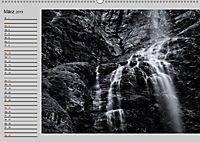 Wasserfälle - monochrom (Wandkalender 2019 DIN A2 quer) - Produktdetailbild 3