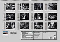 Wasserfälle - monochrom (Wandkalender 2019 DIN A2 quer) - Produktdetailbild 13