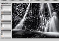 Wasserfälle - monochrom (Wandkalender 2019 DIN A2 quer) - Produktdetailbild 9