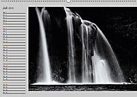 Wasserfälle - monochrom (Wandkalender 2019 DIN A2 quer) - Produktdetailbild 7