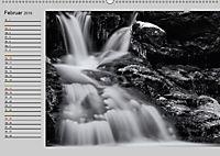 Wasserfälle - monochrom (Wandkalender 2019 DIN A2 quer) - Produktdetailbild 2