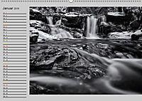 Wasserfälle - monochrom (Wandkalender 2019 DIN A2 quer) - Produktdetailbild 1