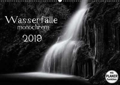 Wasserfälle - monochrom (Wandkalender 2019 DIN A2 quer), Kirsten Karius
