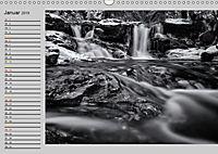Wasserfälle - monochrom (Wandkalender 2019 DIN A3 quer) - Produktdetailbild 1