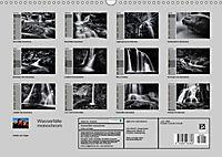 Wasserfälle - monochrom (Wandkalender 2019 DIN A3 quer) - Produktdetailbild 13