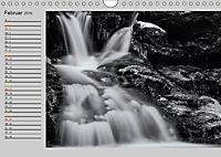 Wasserfälle - monochrom (Wandkalender 2019 DIN A4 quer) - Produktdetailbild 2