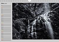 Wasserfälle - monochrom (Wandkalender 2019 DIN A4 quer) - Produktdetailbild 3