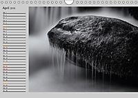 Wasserfälle - monochrom (Wandkalender 2019 DIN A4 quer) - Produktdetailbild 4