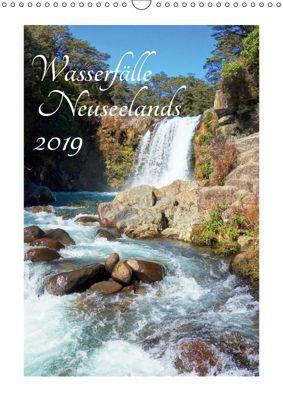 Wasserfälle Neuseelands (Wandkalender 2019 DIN A3 hoch), Isabel Bürschgens