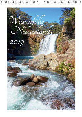 Wasserfälle Neuseelands (Wandkalender 2019 DIN A4 hoch), Isabel Bürschgens