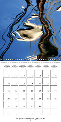 Water reflections in the harbour 2019 (Wall Calendar 2019 300 × 300 mm Square) - Produktdetailbild 5