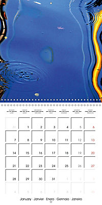 Water reflections in the harbour 2019 (Wall Calendar 2019 300 × 300 mm Square) - Produktdetailbild 1