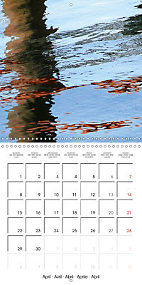 Water reflections in the harbour 2019 (Wall Calendar 2019 300 × 300 mm Square) - Produktdetailbild 4