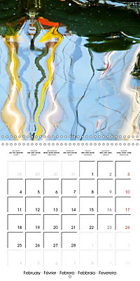 Water reflections in the harbour 2019 (Wall Calendar 2019 300 × 300 mm Square) - Produktdetailbild 2