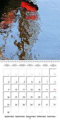 Water reflections in the harbour 2019 (Wall Calendar 2019 300 × 300 mm Square) - Produktdetailbild 9