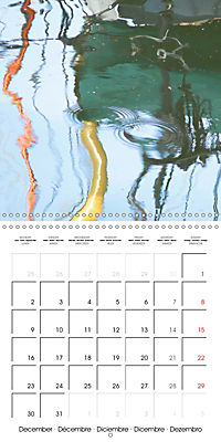 Water reflections in the harbour 2019 (Wall Calendar 2019 300 × 300 mm Square) - Produktdetailbild 12