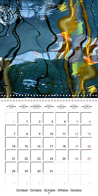 Water reflections in the harbour 2019 (Wall Calendar 2019 300 × 300 mm Square) - Produktdetailbild 10