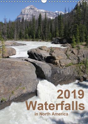 Waterfalls of North America 2019 (Wall Calendar 2019 DIN A3 Portrait), Frank Zimmermann