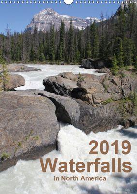 Waterfalls of North America 2019 (Wall Calendar 2019 DIN A3 Portrait), Frank Zimmermann