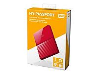 WD My Passport 1TB Rot portable HDD external USB3.0 6,4cm 2,5Zoll Retail - Produktdetailbild 3