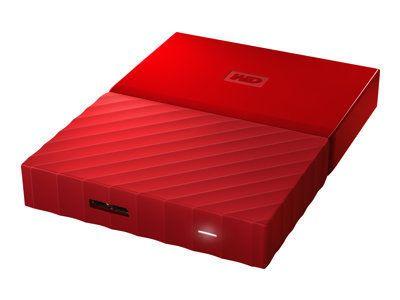 WD My Passport 1TB Rot portable HDD external USB3.0 6,4cm 2,5Zoll Retail