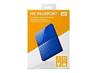 WD My Passport 3TB Blau portable HDD external USB3.0 6,4cm 2,5Zoll Retail - Produktdetailbild 4