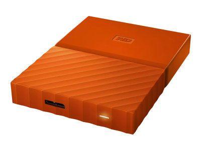 WD My Passport 4TB Orange portable HDD external USB3.0 6,4cm 2,5Zoll Retail