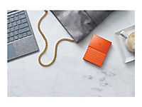 WD My Passport 4TB Orange portable HDD external USB3.0 6,4cm 2,5Zoll Retail - Produktdetailbild 4