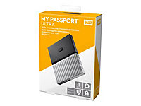 WD My Passport Ultra 1TB Black-Gray USB3.0/2.0 HDD 6,4cm 2,5Zoll Metal finish RTL portable extern - Produktdetailbild 3
