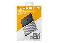 WD My Passport Ultra 1TB Black-Gray USB3.0/2.0 HDD 6,4cm 2,5Zoll Metal finish RTL portable extern - Produktdetailbild 1