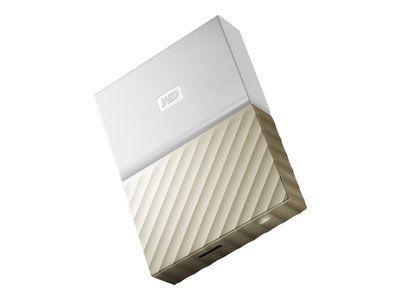 WD My Passport Ultra 3TB White-Gold USB3.0/2.0 HDD 6,4cm 2,5Zoll Metal finish RTL portable extern