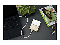 WD My Passport Ultra 3TB White-Gold USB3.0/2.0 HDD 6,4cm 2,5Zoll Metal finish RTL portable extern - Produktdetailbild 9