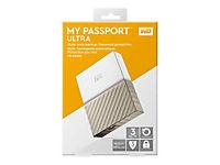 WD My Passport Ultra 3TB White-Gold USB3.0/2.0 HDD 6,4cm 2,5Zoll Metal finish RTL portable extern - Produktdetailbild 10
