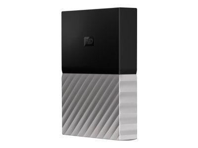 WD My Passport Ultra 4TB Black-Gray USB3.0/2.0 HDD 6,4cm 2,5Zoll Metal finish RTL portable extern