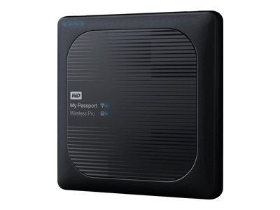 WD My Passport Wireless Pro 2TB WiFi AC HDD mobile wireless storage device USB3.0 SD-Card Slot 6,4cm 2,5Zoll external Retail